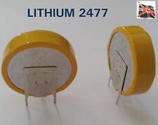 CR2477 Battery  PCB Vertical mount Tabbed Tag Solder Pins LM2477 BR2477 LIR2477