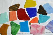 1Kg Tiffany Glas Bruchmosaik bunt groß 7-20cm ,ca. 10-15St.