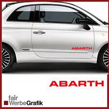 2 Stück Set Fiat Abarth Sticker Style Punto Skorpion 500 Dekor Aufkleber #106