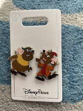 Disney Parks Cinderella Mice Gus & Jaq New on Card 2 Pin Set