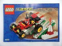 Notice LEGO race Manuels d'instructions montage réf : 6602