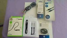 Belkin 3.5mm 3Ft (Lot of 4 + splitter// philips 6ft.1.8m 3.5m audio/video cable
