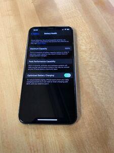 Factory Unlocked iPhone 11 Pro 256GB Silver Used Unlocked 100% Battery Health