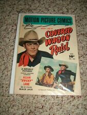 "1951 Fawcett Motion Picture Comic ""Rocky Lane in Covered Wagon Raid"" #103"