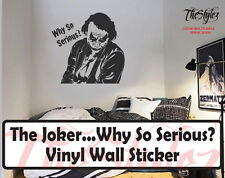 The Joker...Why So Serious? Silhouette Oversize Vinyl Wall Sticker