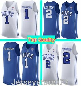 NCAA 1 Zion Williamson Duke Blue Devils College Jersey 12 Ja Morant Murray State
