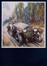MOUNTED PRINT by GORDON CROSBY 'Racing Car' ARTIST. Free UK Postage (1040)
