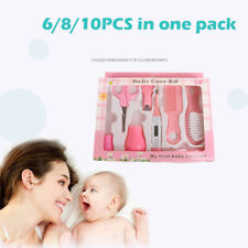 Newborn Baby Care Kits Set Nose Cleaner Feeder Thermometer Nail Clipper Brush