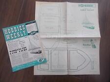 HOBBIES WEEKLY MAGAZINE NOVEMBER 9th 1955 FREE DESIGN WORKING TOY LAND YACHT