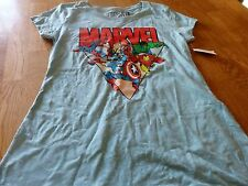 "NWT! ""MARVEL COMICS"" LADIES S/S SUPER HEROES T-SHIRT SIZE XXL"