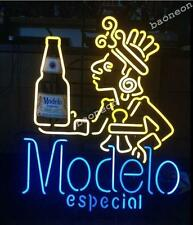 """24""""X22"""" HUGE Modelo Especial BEER BAR LIGHT REAL GLASS NEON SIGN FREE SHIPPING"""