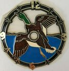 "Ramar Ind. Plastic Clock Face Flying Duck 1984 Sticky Back 4"" Diameter Vintage"