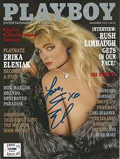 Erika Eleniak Signed December 1993 Playboy Magazine PSA/DNA COA Baywatch Auto'd