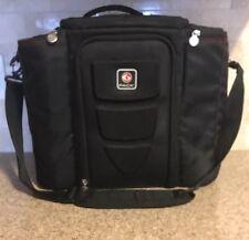 6 Pack Brand Large Fitnes Meal Prep Travel Bag Black Holds 5 Meals Compartments