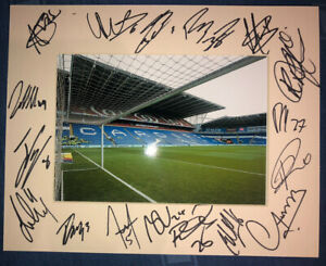 Cardiff City 21/22 HAND SIGNED 10x8 MOUNT DISPLAY Signed By 17 Players B