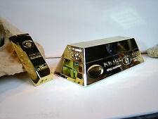 Stopfmaschine im edlen Goldbarren - Design + Feuerzeug @ Raucherset - Tabakwaren