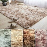 Fluffy Rugs Anti-Skid Shaggy Area Rug Home Room Carpet Floor Mat Home Bedroom US