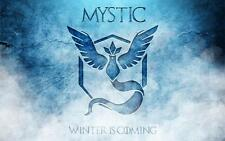 POKEMON GO TEAM MYSTIC WINTER IS COMING #2 CUSTOM PLAYMAT GAME MAT MOUSE PAD