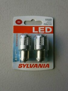 Sylvania LED Light 1156R Two Lamps Red Off Road 12.8V, 2.5W