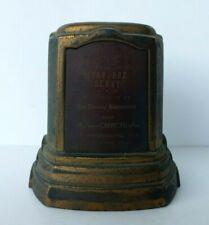 RARE VINTAGE 1949 SOAP BOX DERBY CHEVROLET SPONSOR TROPHY - ST PETERSBURG FL