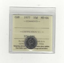 **1977**, ICCS Graded Canadian,  10  Cent, **MS-64**