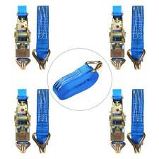 Blue 4x25mm 5 Meter Ratchet Tie Down Straps 800KG Claw Lorry Lashing Polyester