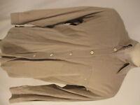 Ermenegildo Zegna Mens Beige Long Sleeve Cotton Rayon Shirt M Italy Made