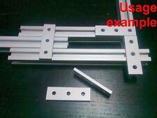 Aluminum T-slot 20x20 profile 3-hole join flat connect 60x18x4mm plate, 8-pieces