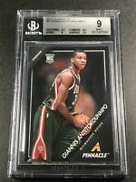 GIANNIS ANTETOKOUNMPO 2013 PANINI PINNACLE #5 ROOKIE RC BGS 9 W/2 9.5 SUBGRADES