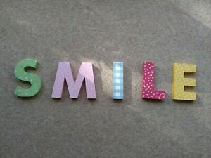 SMILE Wall Letters : Multicoloured