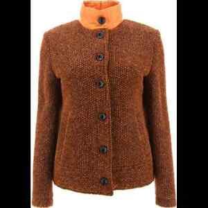 NWT Chervo Ladies Manara Jacket 64115 54D Brown Sz 6 ITA 42 NEW