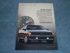 "1989 Toyota Celica All-Trac Turbo Vintage Ad ""More Power to the Pavement."""