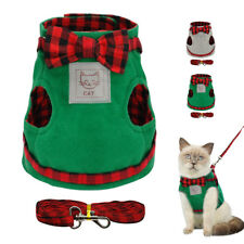 Small Cat Harness & Leash Cotton Padde D-ring Kitten Puppy Cat Walking Harness