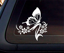 Butterfly Flower Car Decal/Sticker