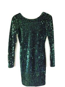 Emerald Green sequin dress Size 8/ Small