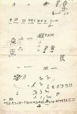 Jean-François CHAMPOLLION / Manuscrit autographe. Hiéroglyphes Egypte.