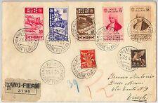 ITALIA REGNO: storia postale - Sass 377/9 LITTORALI  + 364/5  Galvani su busta