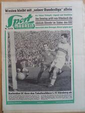 SPORT MAGAZIN KICKER 5A - 4.2. 1957 * KSC-VfB Stuttgart 3:0 Bayern-Nürnberg 1:0