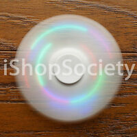 LED Tri Spinner Fidget Spinners EDC Figet Hand Desk Focus Toy ADHD -USA- WHITE