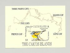 Caicos #54 Audubon, Birds 1v S/S Imperf Proof