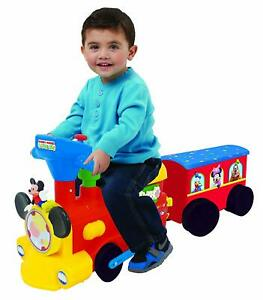 Mickey 2-in1 Battery Powered Activity Choo Choo Train with Caboose