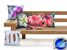 Outdoor Cushions Waterproof Canvas FILLED Cushions For Garden Furniture Chairs