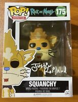 Justin Roiland Signed Rick and Morty Squanchy 175 Funko Pop - BAS X68069