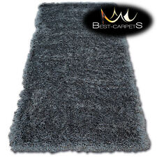 "MODERN SOFT & THICK RUG SHAGGY ""MACHO"" grey Polyester HIGH QUALITY carpets"