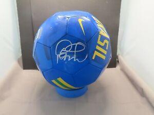 Philippe Coutinho Signed Nike Team Brasil Soccer Ball Beckett Witnessed COA 1A