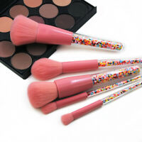 5PCS Glitter Makeup Brushes with Colorful Candy Beads Powder Eye Crystal Brush