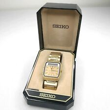 Vintage Seiko Japan H357-5009 Mens Analog Digital Chrono Watch Hours Gold Tone.
