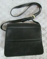 VINTAGE COACH CROSSBODY PURSE #9092 TRIBECA, Black Leather Saddle Bag, Excellent