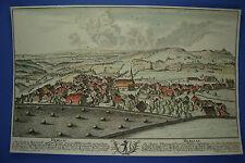 """""""Herisau"""" Kanton Appenzell Ausserrhoden  Kupferstich von D. Herrliberger, 1760"""