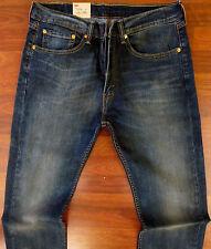 LEVI'S 505 Straight Leg Jeans Men's Size 36 X 32 Classic Distressed Dark Wash